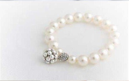 Free Shipping! Fashion Jewelry Pearl Bracelet With Pearl Ball Pendant