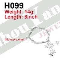 Ювелирное изделие H099 bracelet Silver Jewelry jewellry Charm Tag chain Bracelets Brand New