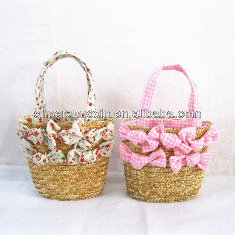 Rieten Tas Maken : Kinderen mode rieten mand strand kind tas handtassen