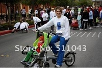 Детская коляска shipping leiya original mother baby bike parent-child bicycle twin baby cart maternal and infant car