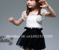 free shipping  cheapest  price black and white  classic two colour  kid girl  dress  for 2 to 8 years  old chirldren