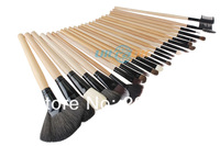 Кисти для макияжа 24pcs Professional Wooden Handle Makeup Brush tool Cosmetic Brushes kit+ Roll Up Case