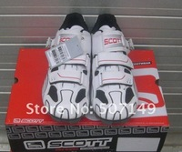 Мужская обувь для велоспорта 2011 carbon fibre moutain high quality Scotts bike shoes sports cycling shoes white and black colors size:40-44