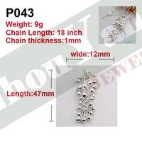 Цепочка с подвеской P043-C001 Grape Factory Price silver necklace.fashion jewelry jewellry necklace