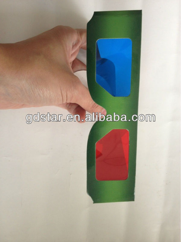 promotional durable custom 3d paper glasses