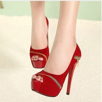 Free shipping 2013 Pumps shoes for women hot fashion shoes red bottom sole pumps high quality thin high heel model pumps