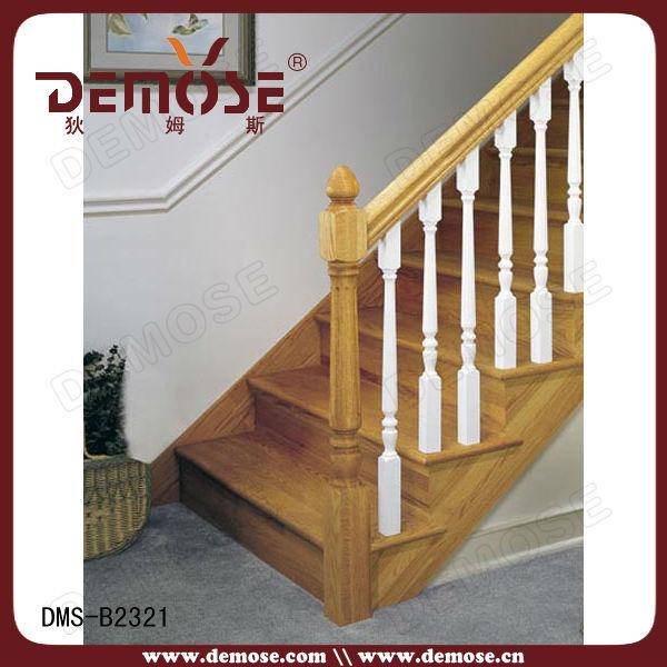 outdoor ronda pasamanos de madera para escaleras