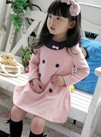 Платье для девочек 2013 new Korea princess baby girls dress Pink color children clothing child dress B057 5pcs/lot