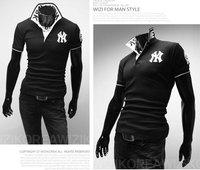 Мужская футболка hot! men's fashion polos shirt/golf shirts/short sleeve tshirt