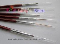 6pcs/Set 10set/lot 6 size Nail Art Design Painting Pen Brush For Polish Care Acrylic Dotting Tool Free Shipping