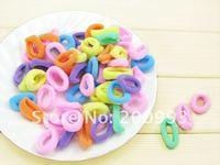 200 pieces Baby girl Kids Hair accessaries Rainbow Hair bands ElasticTies Ponytail Holder Ponies Light Colour FS022_A