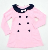 2013 new Korea princess baby girls dress Pink color children clothing wholesale child dress B057 5pcs/lot free shipping