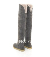 23 1/2'' 60cm Fashion Warm winter 2012 snow boots for Lady and Women boots & Black,Yellow,Gray,Brown ~free shipping#CH063