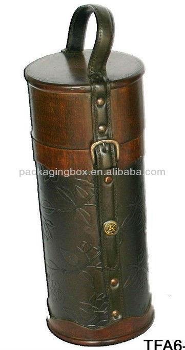 wooden wine carrier case