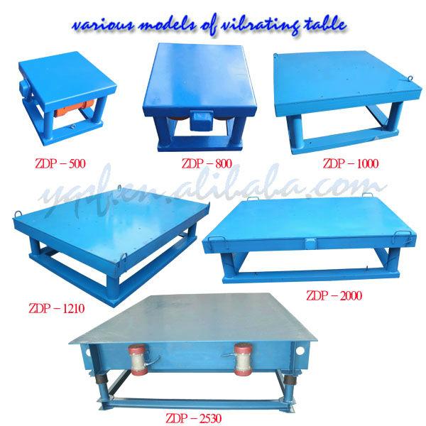 Henan yongqing petite table vibrante petits b ton table for Table vibrante