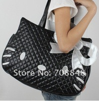 Дорожная сумка Hello Kitty Black leather-like BIG tote bag handbag