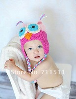 Шапка для мальчиков Cartoon Designs 100%Cotton Handmade Children Crochet Hats Various Animal Styles Baby Owl Beanie hat Kids Flower cap MZ0626