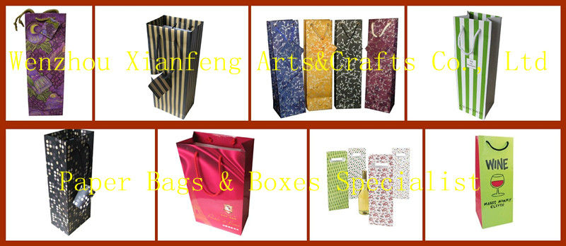 2014 Cheap Personalized Durable Paper Wine Bottle Bag
