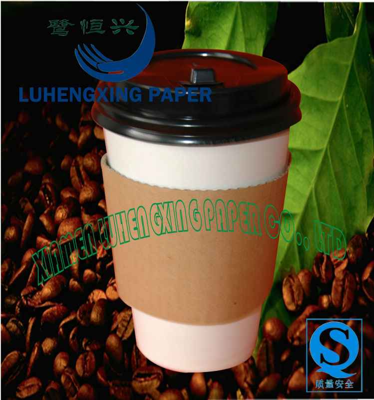 Logo printed disposable paper coffee cup and lids