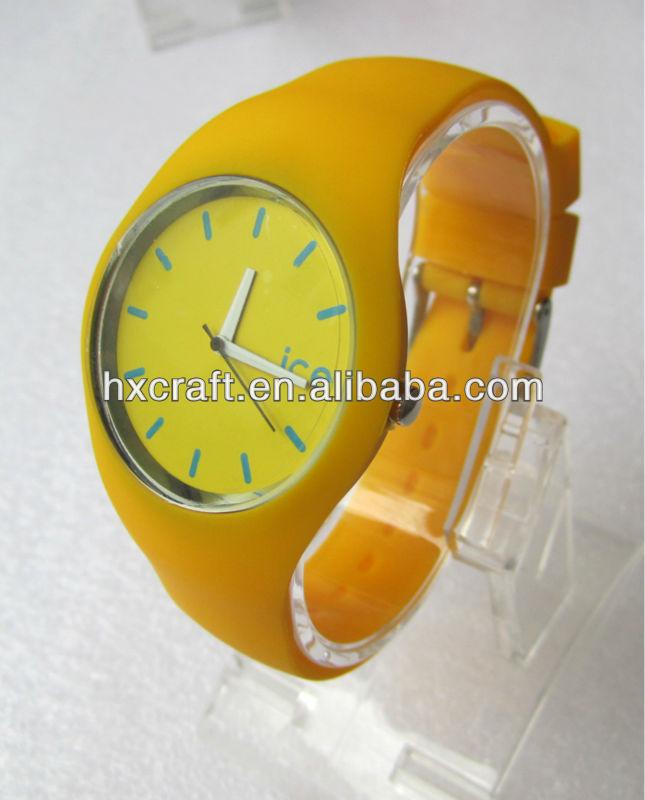 2014 brand new iceed silicone strap cheap custom watch