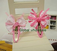 Детский аксессуар для волос New Kids/Girls/Baby Ribbon Bow Hair clips/Hair Pins/Hairwear/Hair Accessories/Kroean Style