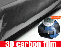 russia free shipping cod in 18 days 152x3000cm 3d carbon fiber vinyl film stickers wrapping double clearance contains tariff