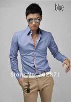 Мужская классическая рубашка Slim fit