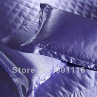 4pcs cool summer bedding  100  imitated silk quilt color /bedspread/bed sheet set/duvet cover/silk bedding