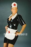 женщин моды латекса сексуальная медсестра единообразной экзотические одежды костюмы чулки для женщин