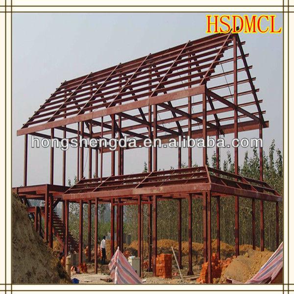 La estructura de acero casa prefabricada modular - Estructuras de acero para casas ...