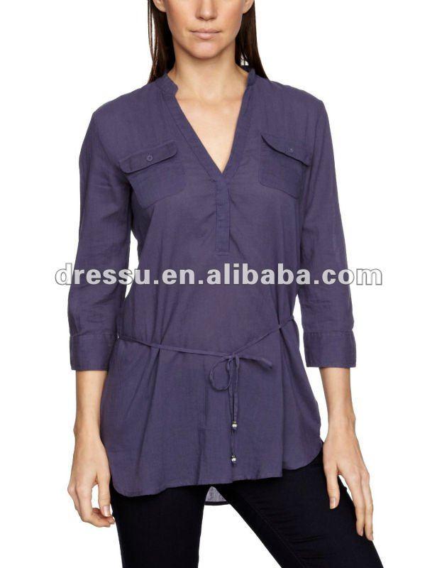 Baratos de blusas de moda, dama blusa de 2012 ( tp2320 )