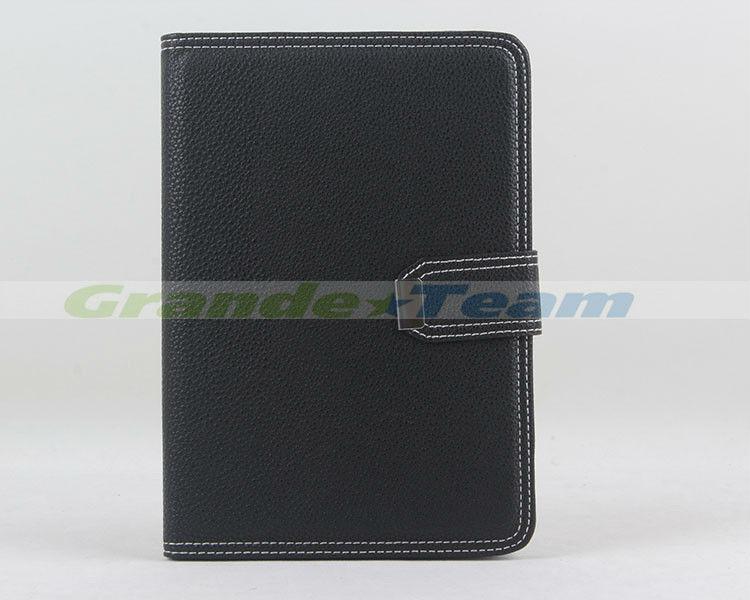 2013 Korea color contrast PU magnetic smart case flip cover for ipad mini
