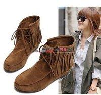 Free shipping , ladies fashion tassel snow boots , ladies fashion winter half boots  size:35-40