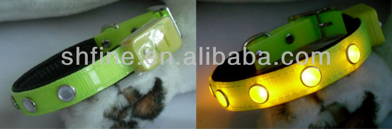 LED lights with light-emitting doggy pet collar