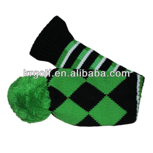 3pcs/set Knit Golf Head Cover Driver1# Fairway 3#,5# Green headcover