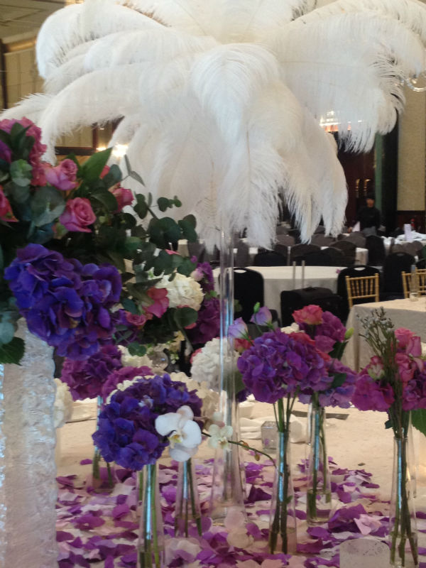 ostrich feather for wedding decoration