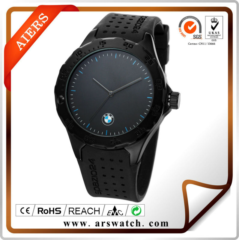 Japan quartz alloy Silicone Sports Watch