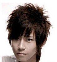 Men handsome sun wig harsh harsh fluffy boys wig short hair Korean