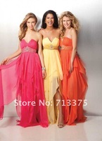 NEW Sexy Sweetheart Waist Beaded Chiffon Party Prom Ball Cocktail Evening Gowns