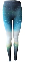 FH-221 2012 New Fashion Woman Galaxy Cosmic Space Tie Dye Printed Leggings Tights pants FREE SHIPPING Wholesale 5pc/lot