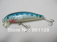 HI41 0.31oz 2.76in Mixed Colors Fishing Lures Hard Bait Spinner Hooks Treble Fish Tackle Wholesale Free Shipping