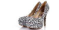 Туфли на высоком каблуке 2013 spring, leopard grain waterproof high platformfashion lady shoes, high heels
