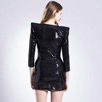 Коктейльное платье Fashion Sleeves Black Mini Cocktail Ball Party Evening Dresses JH161