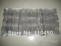 Free Shipping Natural Grey/Natural Chinchilla Rabbit Fur Plate(Factory Shop)