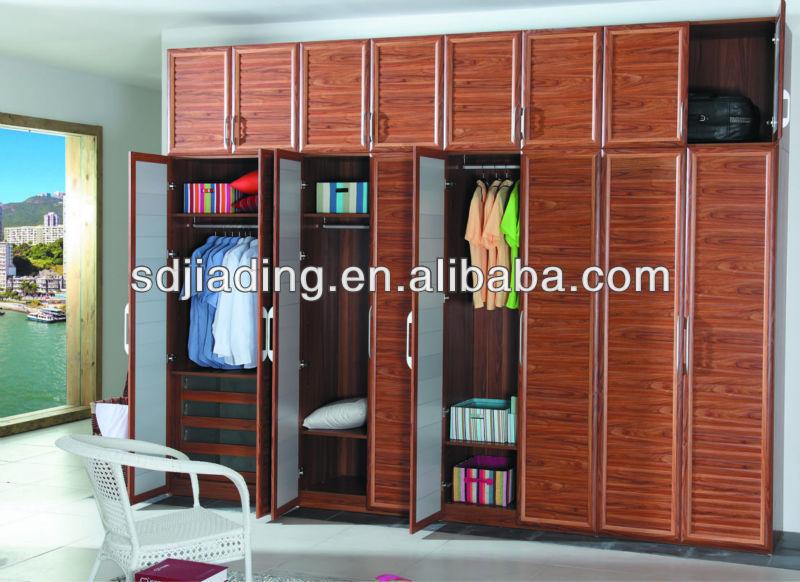 Aluminum frame shutter closet door design bedroom for Bedroom wardrobe shutter designs