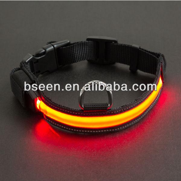 Durable nylon reflective dog shock collar pet collar