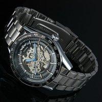 wm174 черный ободок каркас из нержавеющей стали часы