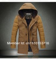 Мужские изделия из шерсти Men's down jacket men's parka outdoor sport winter jacket men cotton-padded jacket woolen overcoat M-XXL
