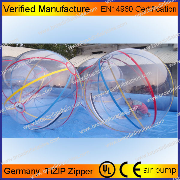 2m PVC/TPU aqua water ball,inflatable water ball,hollow plastic bouncing balls