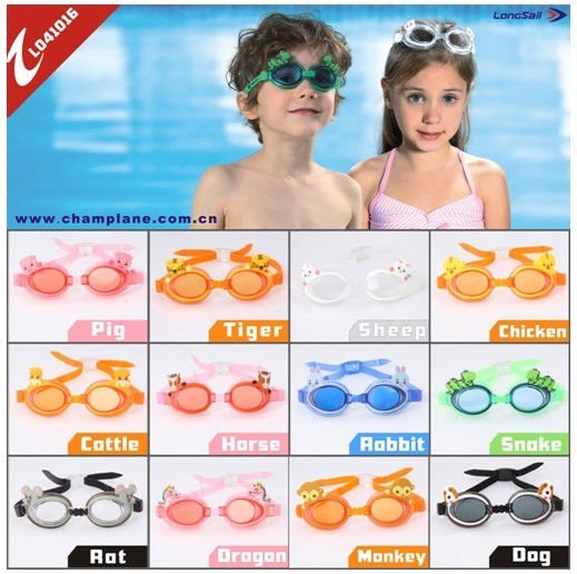 kids swimming goggles in colorful painting